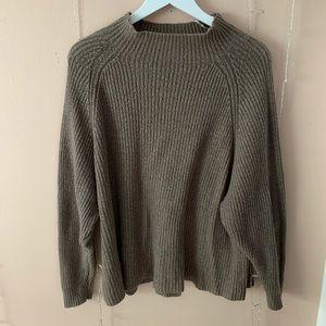 cozy sweater mock neck
